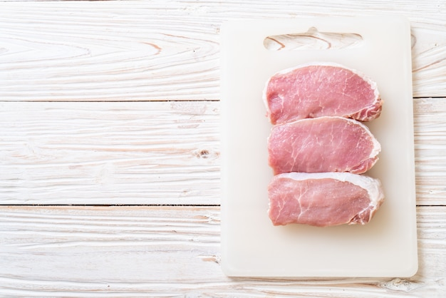Vers varkensvlees rauw