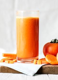 Vers wortel juic macroschot