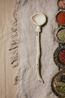 Verscheidenheid aan gerechten en kruiden