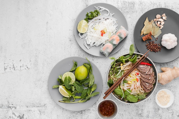 Verscheidenheid van vietnamees eten