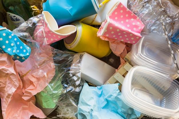 Verschillende afval in een stapel