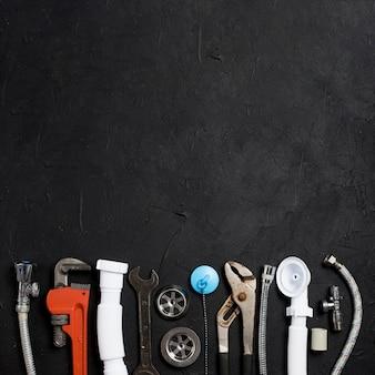 Verschillende apparatuur voor sanitair