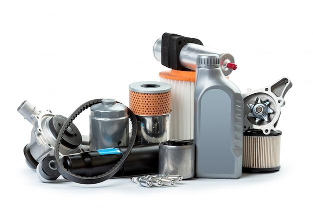 Verschillende auto-onderdelen nodig voor voertuigonderhoud