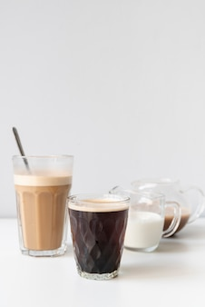 Verschillende bakjes voor heerlijke koffie