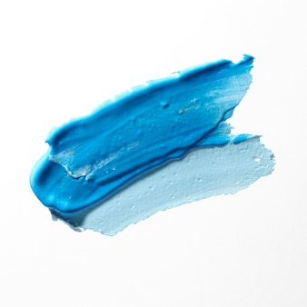 Verschillende blauwe tinten penseelstreek concept