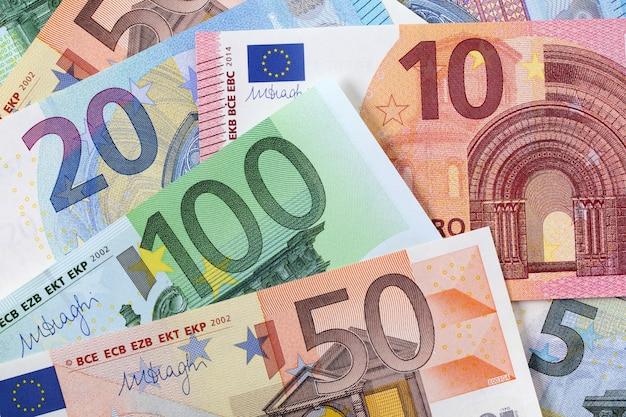 Verschillende euro achtergrond