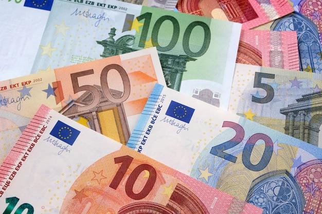 Verschillende euro-achtergrond