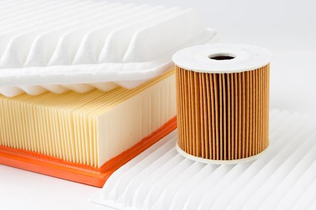 Verschillende filters geïsoleerd op wit