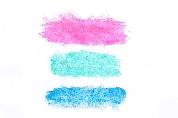 Verschillende gekleurde penseelstreken