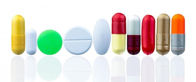 Verschillende grootte en vorm van pil