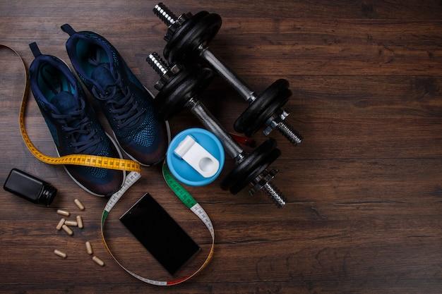 Verschillende items voor fitness