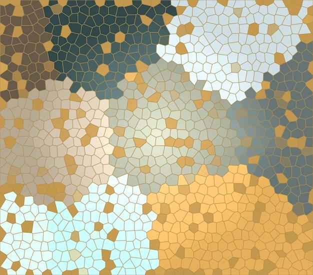 Verschillende kleuren en maten polygonen onregelmatige mozaïekachtergrond