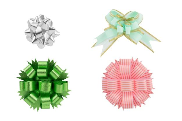 Verschillende lint voor cadeau met uitknippad Premium Foto