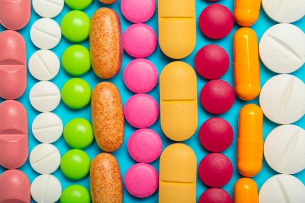 Verschillende medicijnen, pillen, tabletten.