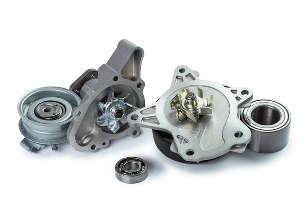 Verschillende metalen auto-onderdelen