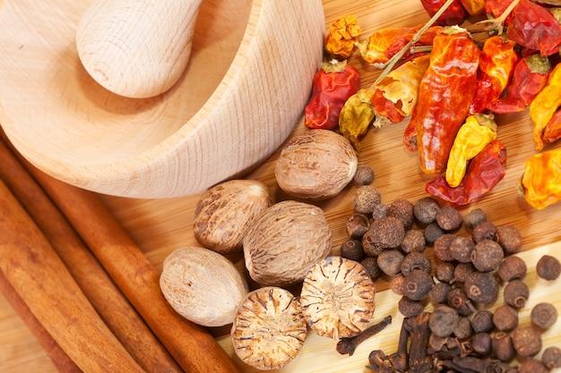 Verschillende natuurlijke spiciness