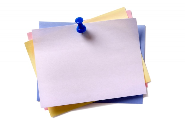 Verschillende plakbriefjes tonen verschillende kleuren