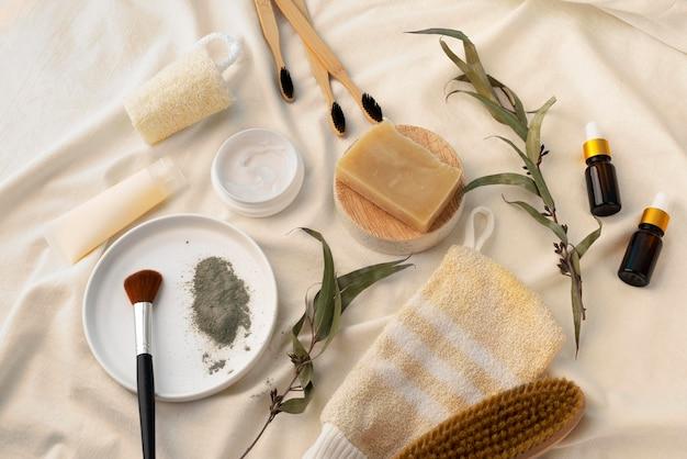 Verschillende samenstelling van natuurlijke zelfzorgproducten