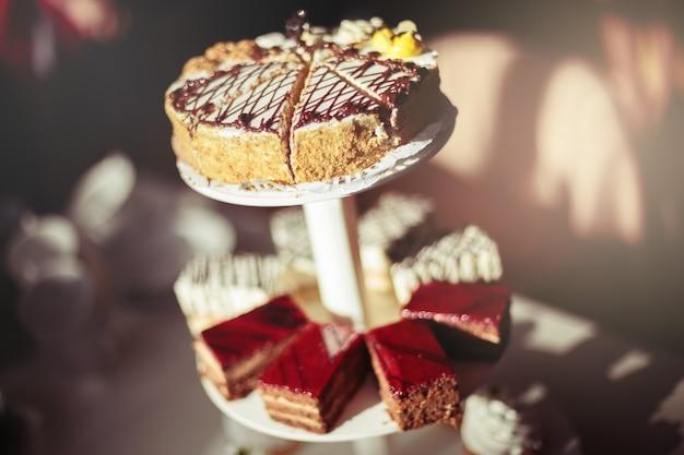 Verschillende smakelijke cakes