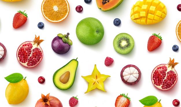 Verschillende soorten fruit en bessen