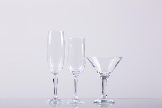 Verschillende soorten glazen voor alcoholdrank