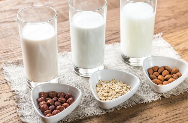 Verschillende soorten melk