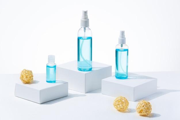 Verschillende soorten ontsmettingsmiddel om uzelf te beschermen tegen coronavirus of griep