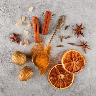 Verschillende soorten specerijen
