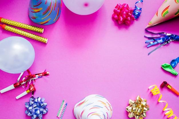 Verschillende spullen voor feestjes