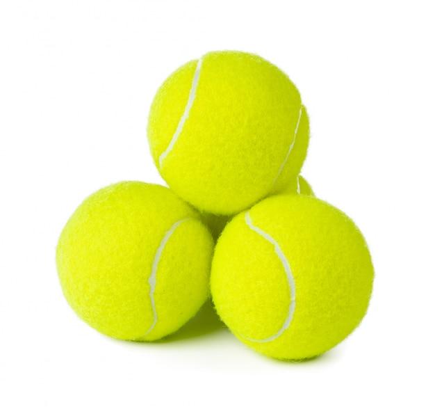 Verschillende tennisballen geïsoleerd