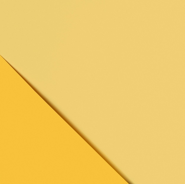 Verschillende tinten geel papier