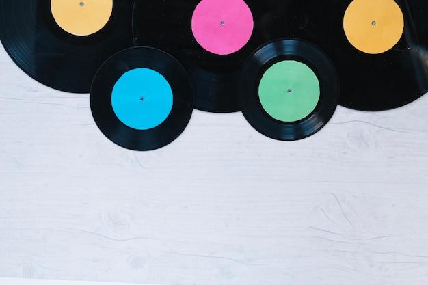 Verschillende vinylschijven