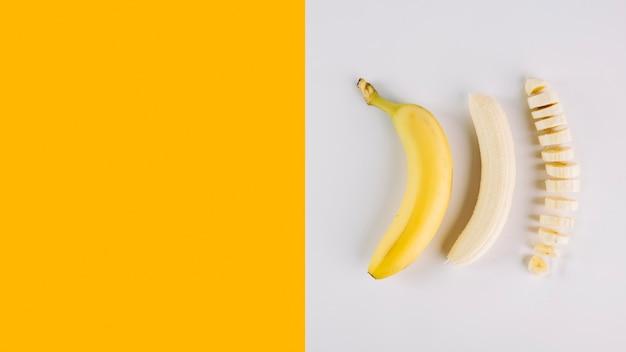Verschillende voorwaarden van banaan