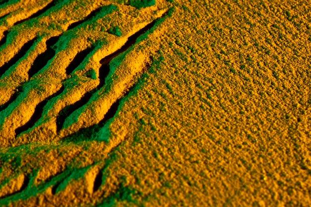 Verschillende vormen gemaakt van zand
