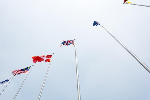 Verschillende wereld vlaggen