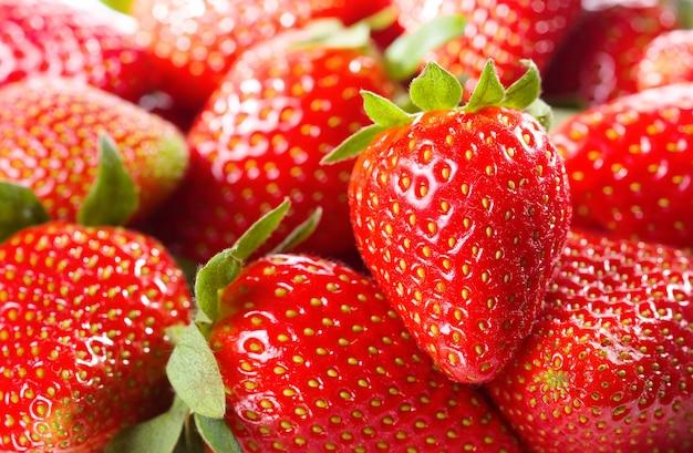Verse aardbeien als