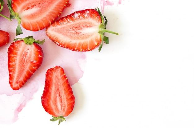 Verse aardbeien patroon achtergrond
