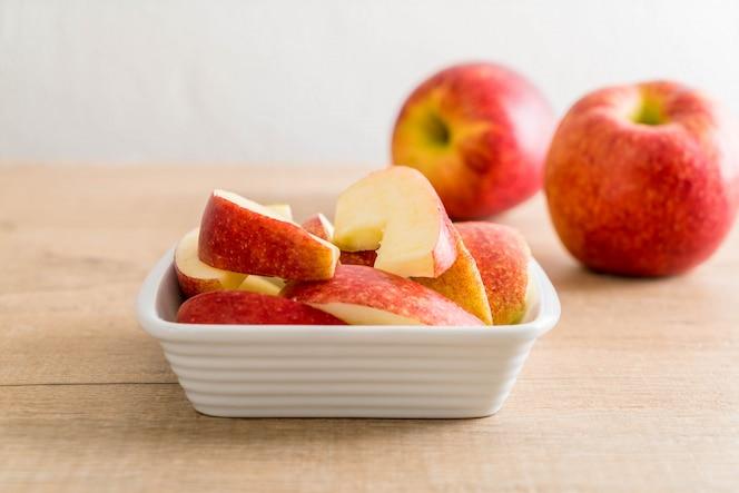 Verse appel gesneden