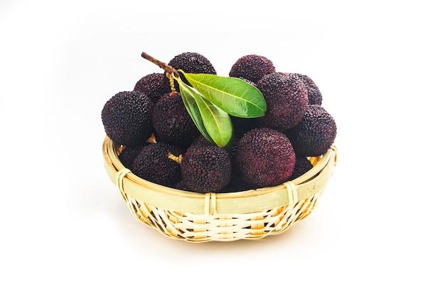 Verse bayberry op witte achtergrond