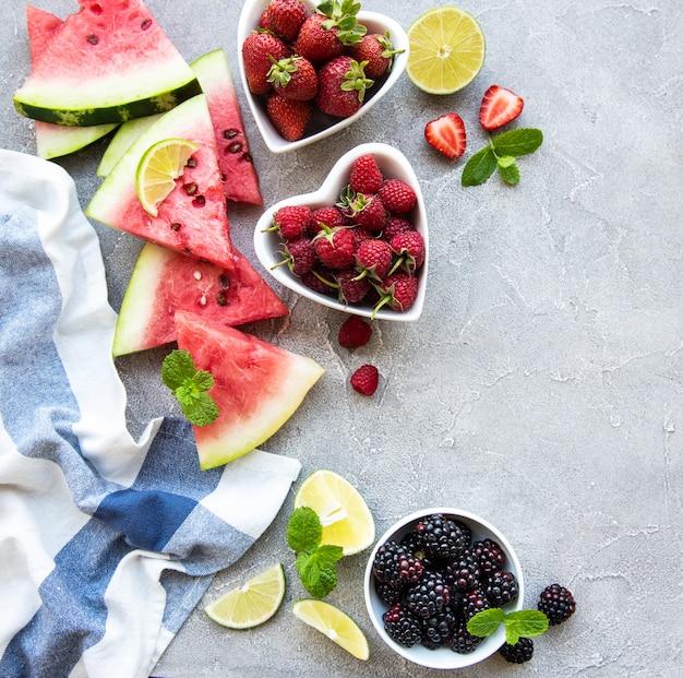 Verse bessen en fruit