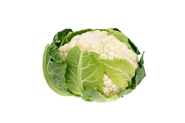 Verse biologische bloemkool courgette squash groente geïsoleerd op wit