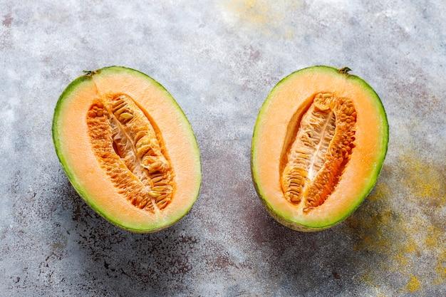 Verse biologische meloen meloen.