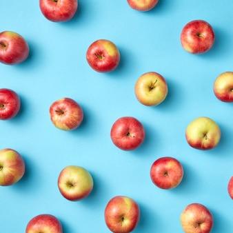 Verse biologische vooraf geplukte appels als patroon