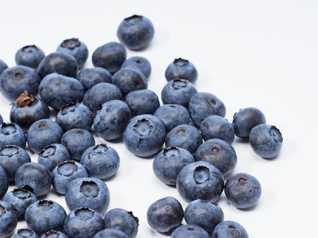 Verse bosbessen, concepten voor gezond voedsel
