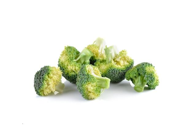 Verse brocoli op wit