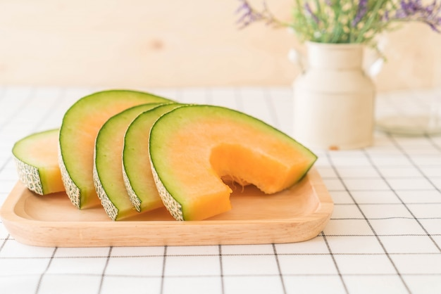 Verse cantaloupe meloen