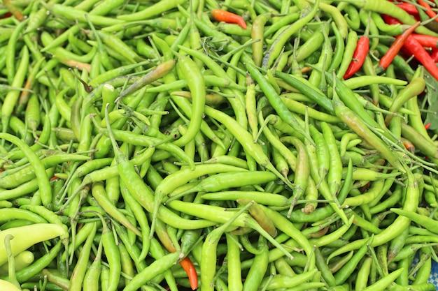 Verse chili op de markt