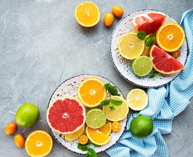 Verse citrusvruchten