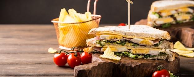 Verse clubsandwich