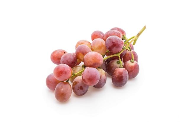 Verse druiven op wit